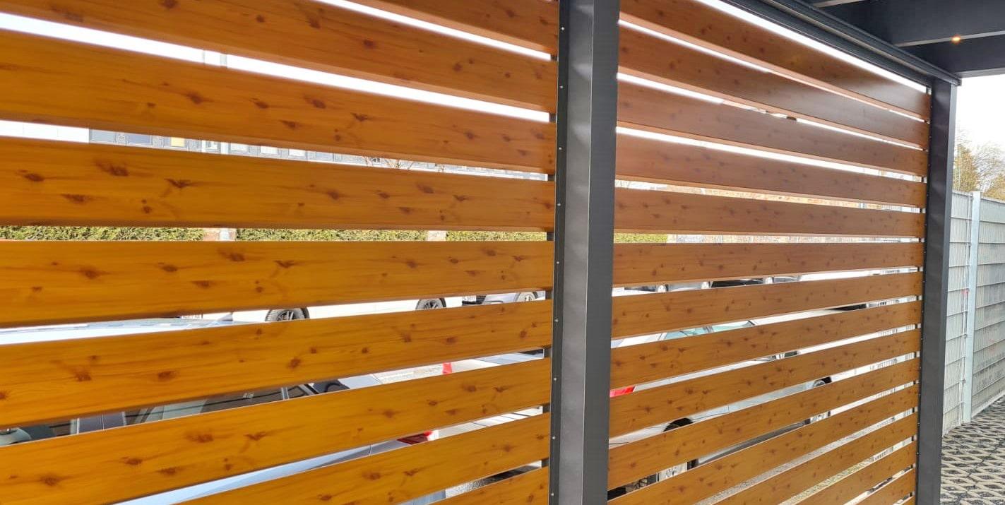Carport Seitenwände Holzpanele