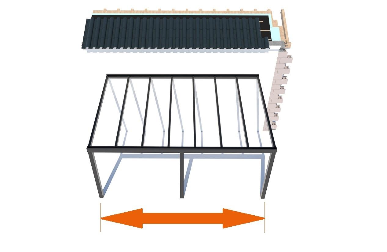 Terrassenüberdachung Breite