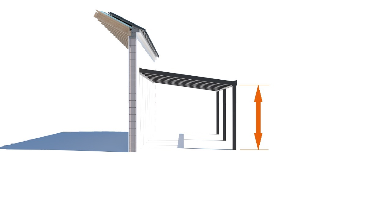 Terrassenüberdachung Höhe