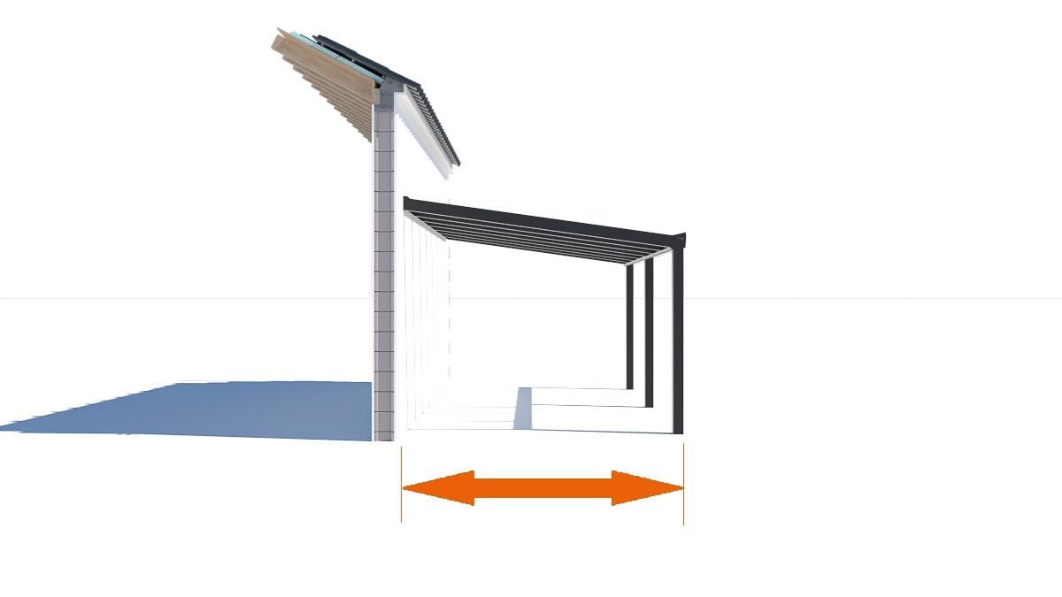 Terrassenüberdachung Tiefe